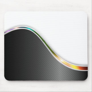 Dark Wave Abstract Mouse Pad