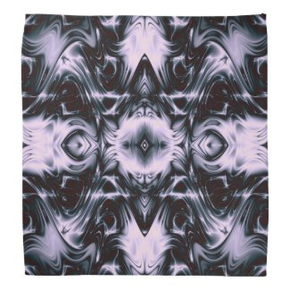 Dark Waves Fractal Bandanna