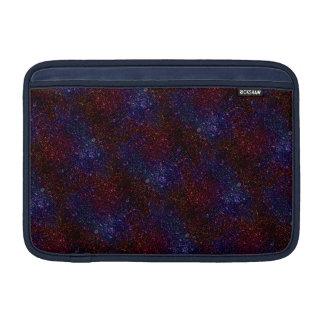 Dark Wavy Blue Red Faux Sparkle Glitter Pixel MacBook Sleeve