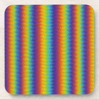 Dark Wavy Rainbow Coasters