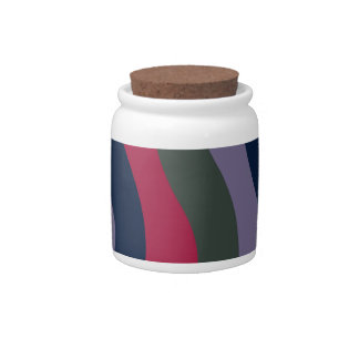 Dark Wavy Stripes Candy Jar