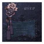 Dark Wedding RSVP card Custom Invites