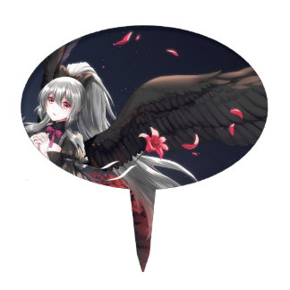 Dark Winged Angel Cake Topper