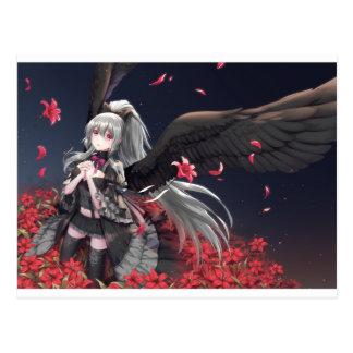 Dark Winged Angel Postcard