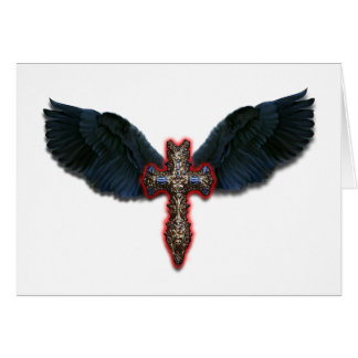 Dark winged Cross Card