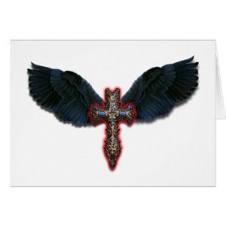 Dark winged Cross Card