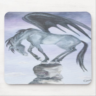 Dark Winged Fantasy Horse Mousepad