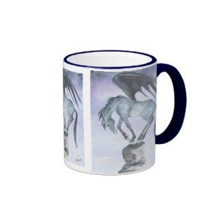 Dark Winged Fantasy Horse Mug