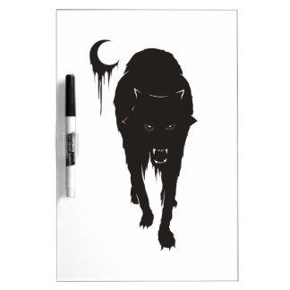 Dark Wolf Dry Erase Board