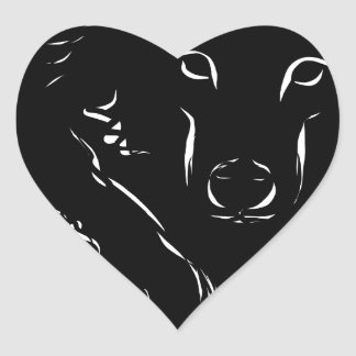 Dark Wolf Heart Sticker