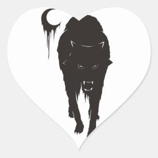 Dark Wolf Heart Sticker