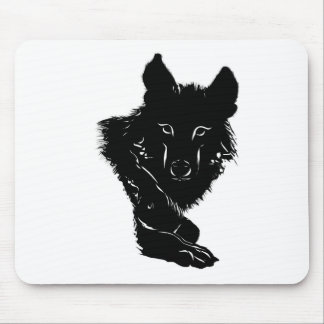 Dark Wolf Mouse Pads