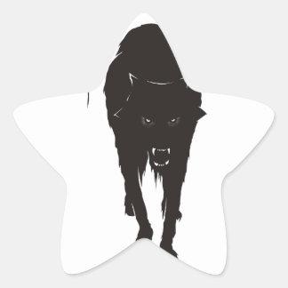 Dark Wolf Star Sticker