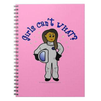 Dark Woman Astronaut Spiral Note Books