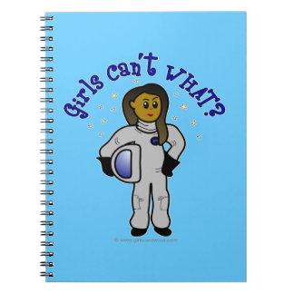 Dark Woman Astronaut Note Book