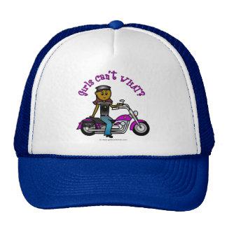 Dark Woman Biker Trucker Hat