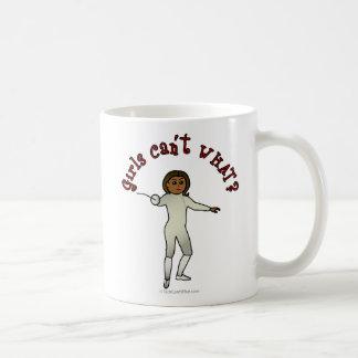 Dark Woman Fencing Coffee Mug