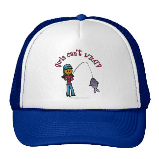 Dark Woman Fishing Trucker Hat