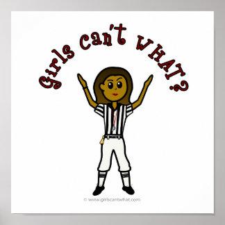 Dark Woman Football Referee Poster
