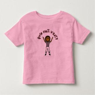Dark Woman Football Referee Toddler T-shirt