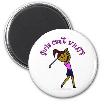 Dark Woman Golfer Refrigerator Magnet