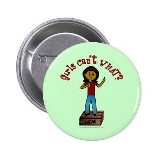 Dark Woman on Soapbox 2 Inch Round Button