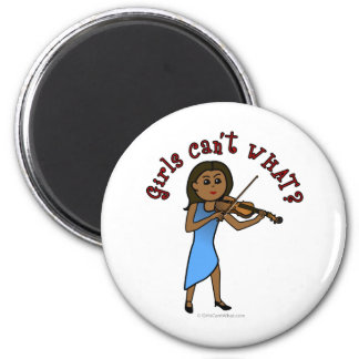 Dark Woman Playing Violin Fridge Magnets