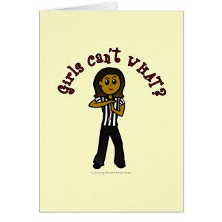 Dark Woman Referee Card
