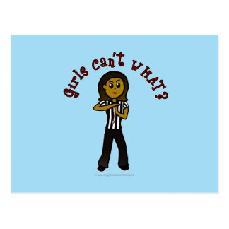 Dark Woman Referee Postcard