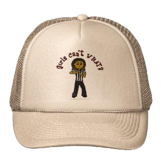Dark Woman Referee Trucker Hat