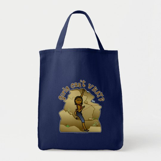 Dark Woman Rock Climber Tote Bag