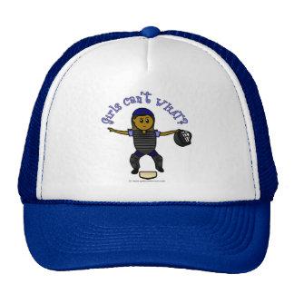 Dark Woman Umpire Trucker Hat
