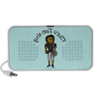 Dark Womens Football iPhone Speaker