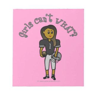Dark Womens Football Note Pads