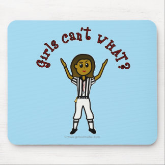 Dark Womens Football Referee Mouse Pad