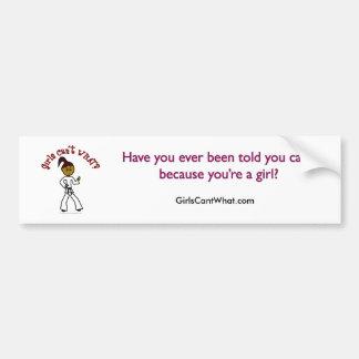 Dark Womens Karate Bumper Sticker