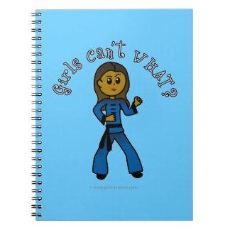 Dark Womens Kung Fu Notebook