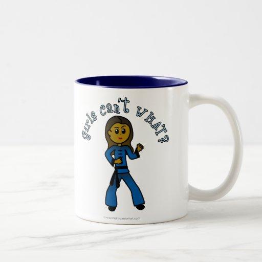 Dark Womens Kung Fu Two-Tone Coffee Mug