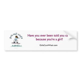 Dark Womens Snowboarding Bumper Sticker