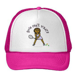 Dark Womens Tennis Player Trucker Hat