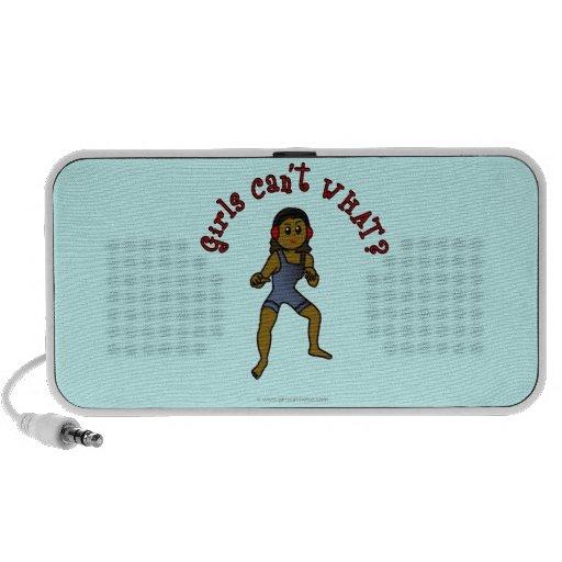 Dark Womens Wrestling iPod Speakers