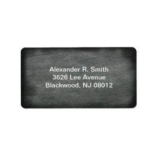 Dark Wood Address Label