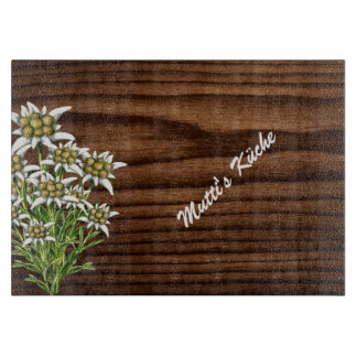 Dark Wood and Edelweiss Custom Cutting Board