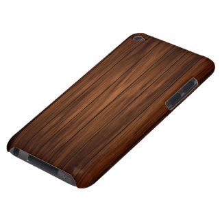 Dark Wood Barely There iPod Cover