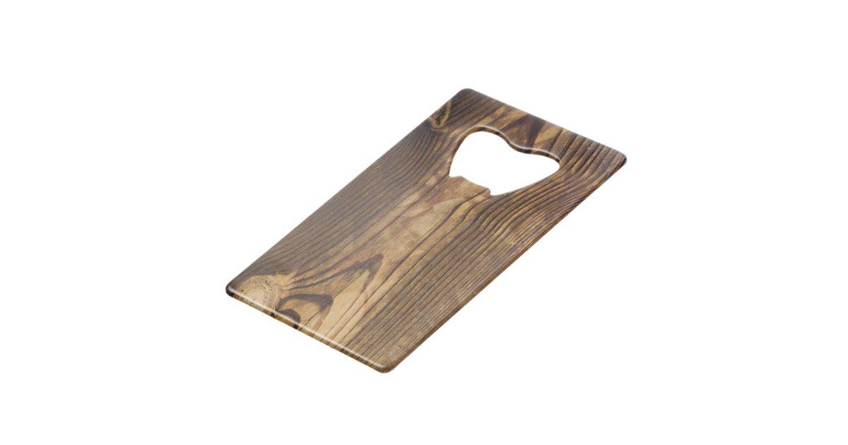 dark wood board credit card bottle opener zazzle. Black Bedroom Furniture Sets. Home Design Ideas