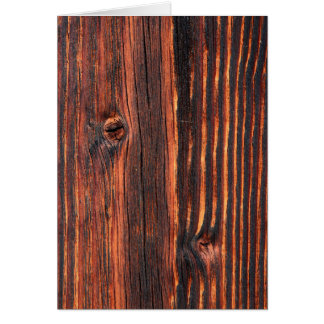 Dark wood board texture card