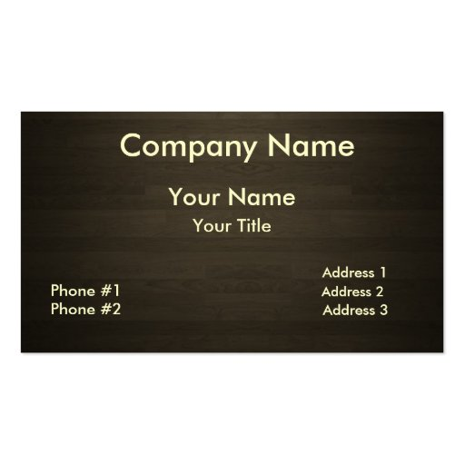 Dark wood business card zazzle for Woodwork business cards