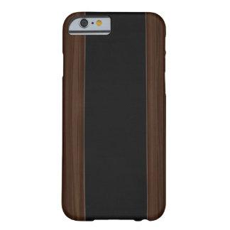 Dark Wood & Carbon Fiber Stripe iPhone 6 case