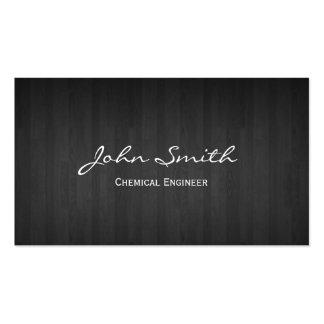 Dark Wood Chemical Engineer Business Card