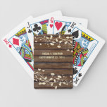 Dark Wood Country Personalized Poker Cards